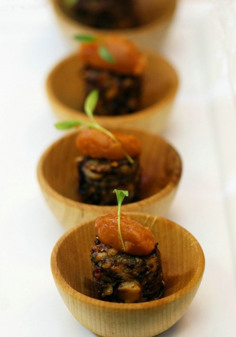 Mirco Squab Burgers with fig ketchup jelly