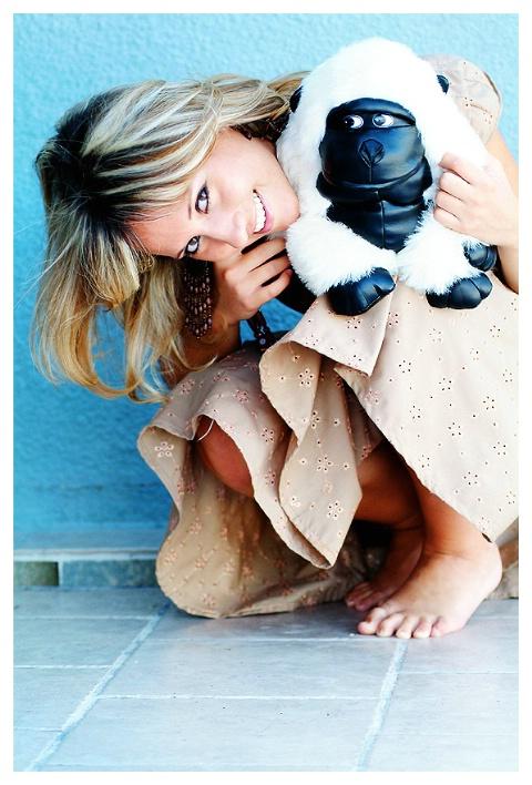 Ingrid with gorilla