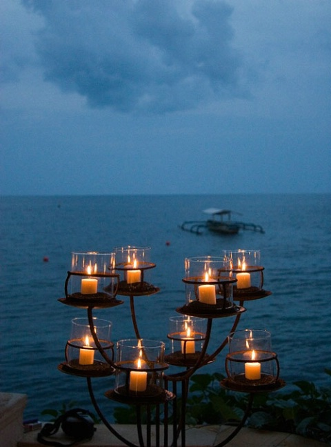 candles and the sea
