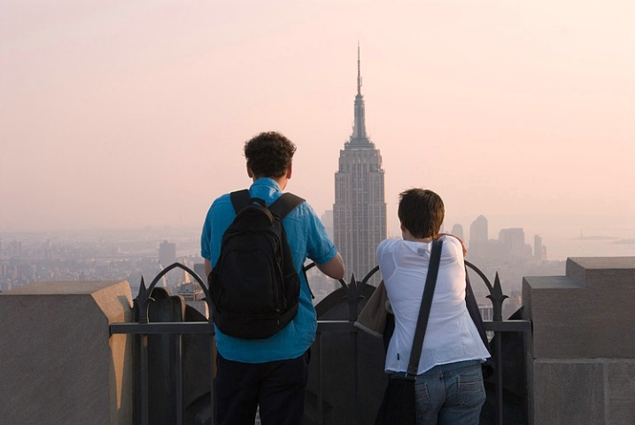 Viewing the Empire State Building at Twilight