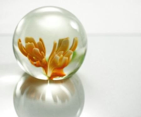 Yellow paperweight