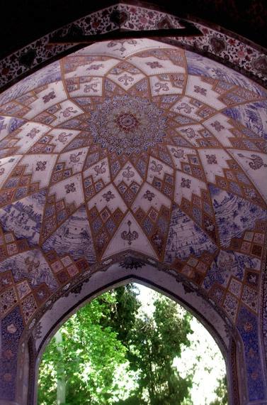 Ceiling in Kashan's Fin Garden