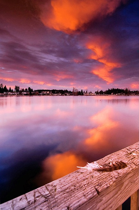 Afterglow Reflection