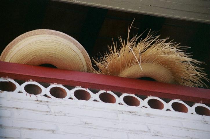Hats on a Ledge