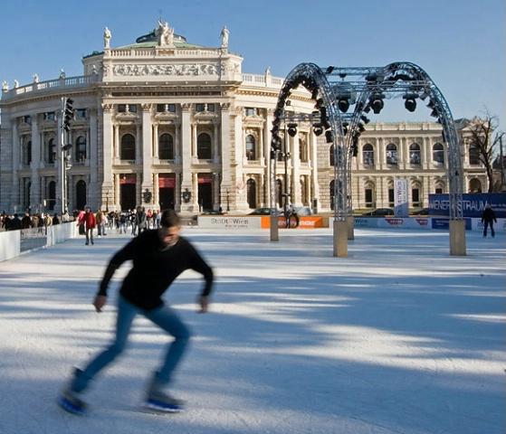Burgtheater ice skating