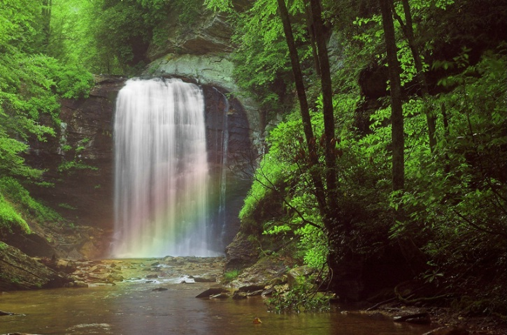 Looking Glass Falls Rainbow