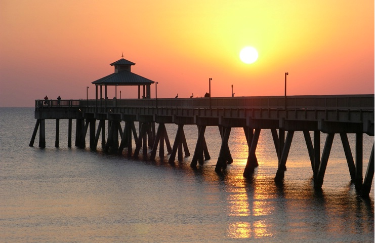 Sunrise Over Pier
