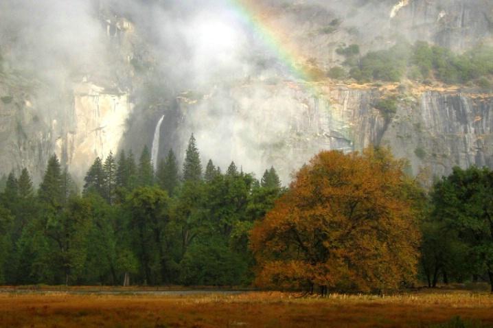 Upper Yosemite Falls Rainbow - ID: 3501790 © Jeri Schultz