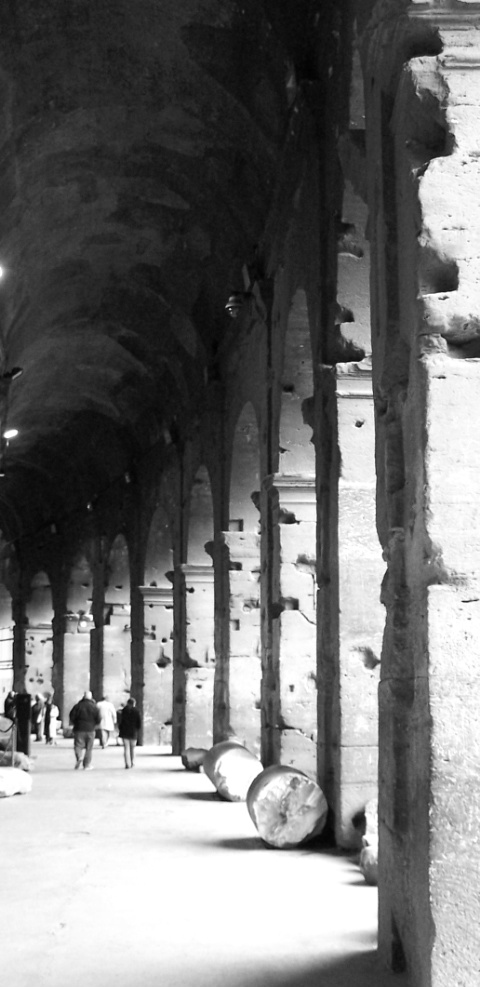 Rome- walkway at Colosseo