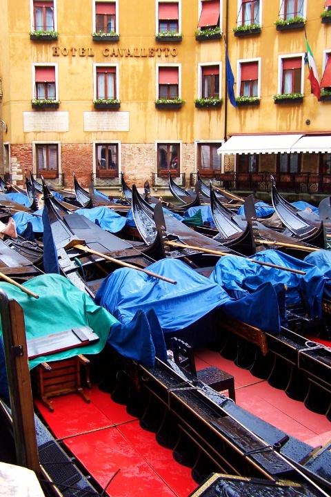 Venice gondola parking lot