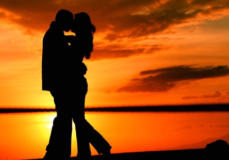 Kissing at the Sunset