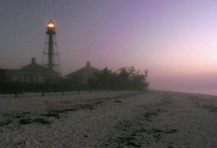 Sanibel Lighthouse in the Fog - ID: 3668622 © Mary Iacofano