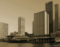 Cityscape with sepia filter