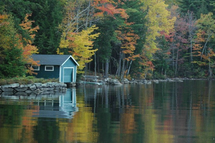 Blue Boathouse ME 101 - ID: 3677199 © Beth E. Higgins
