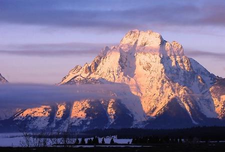 Morning at Mount Moran (Grand Teton NP)