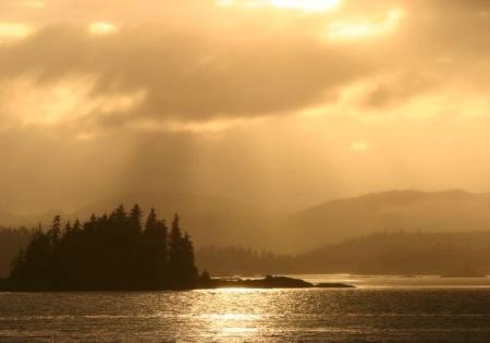 Golden Sunset in Alaska
