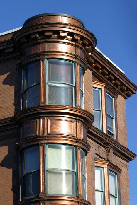 Copper-Plated Building
