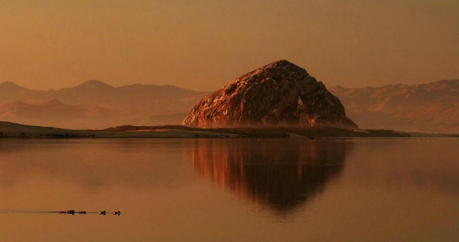 Morro Rock Reflection - ID: 3856733 © Leslie McLain