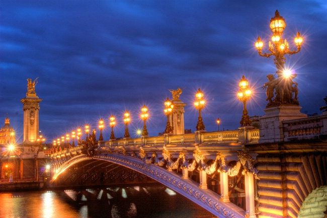 Golden Glow Over The Seine
