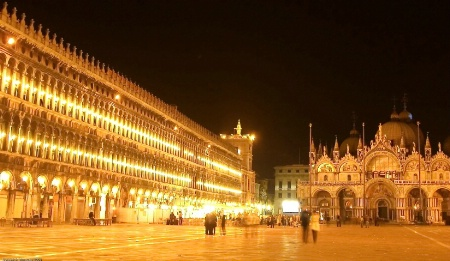 ST.  MARK'S  SQUARE AT NIGHT
