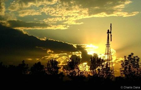 Windmill Sunset Eternal