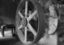 B&W of Grain Wheel