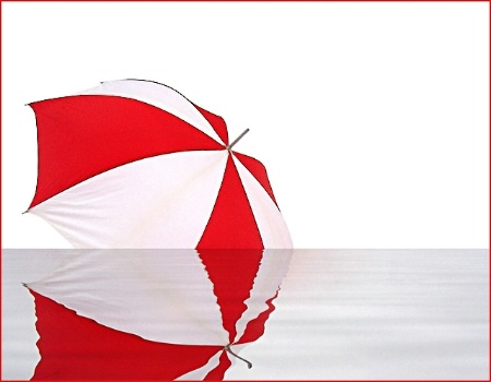 Umbrella and its reflection
