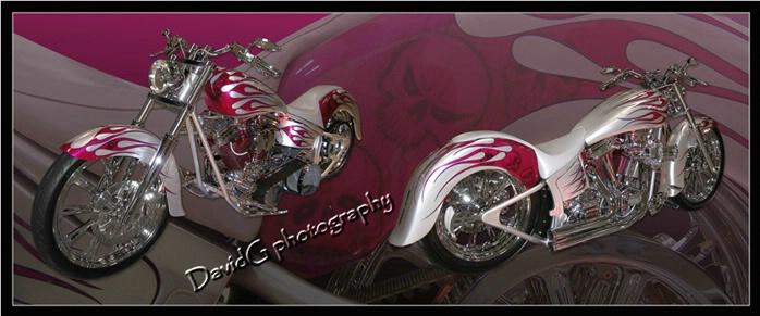 Silver/Magenta Motorcycle - ID: 4097979 © David P. Gaudin