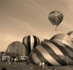 BALLOONS IN SEPIA