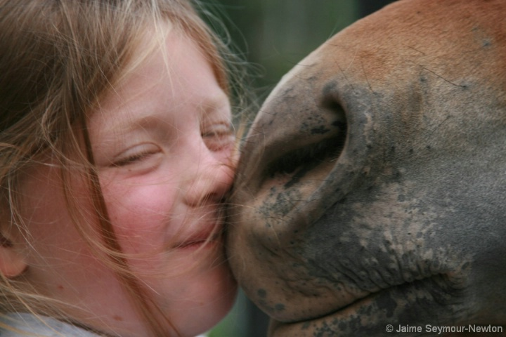 kissing my horse