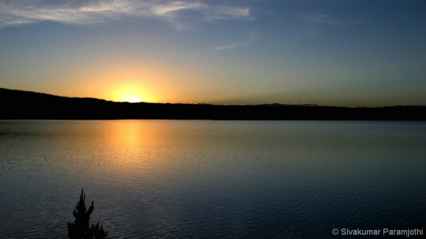Lewis Lake Sunset!    Yellowstone National Park!