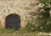 Iron door and ros...