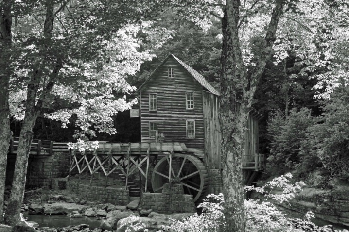 Babcock Grist Mill in B&W - ID: 4162009 © Lisa R. Buffington