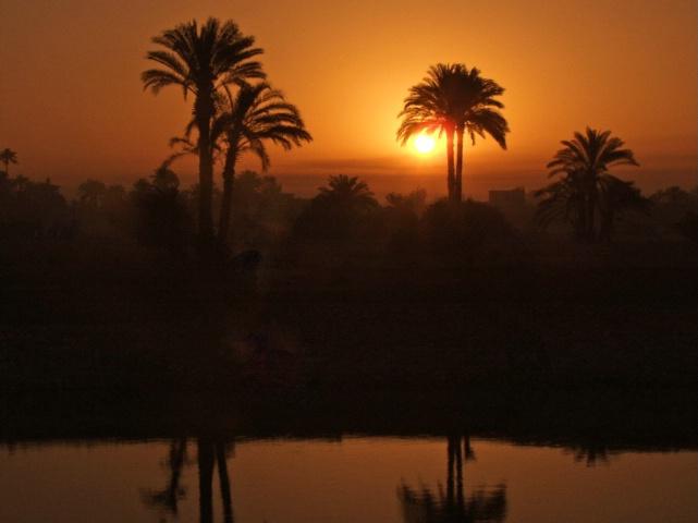 Sunrise on the Nile River in Egypt - ID: 4170643 © Eleanore J. Hilferty
