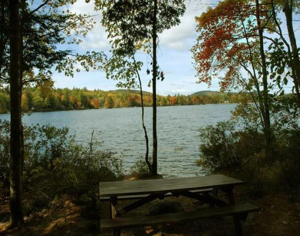 Hidden Park. Moose Pond. Bridgton, Maine