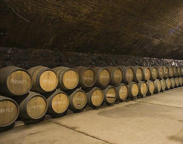 Wine Casks shot in America's Oldest Winery