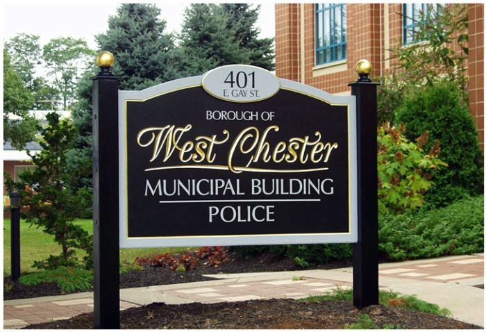 West Chester Borough Carved Gold Leaf Sign<br> - ID: 4208907 © Timlyn w. Vaughan