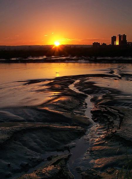 city river brink