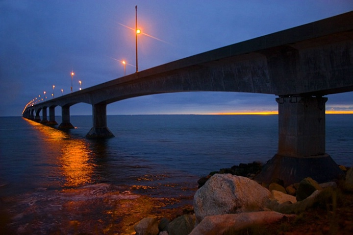Twilight Over Confederation Bridge