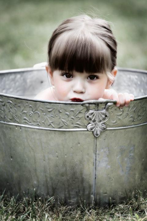 Shy Bathing Beauty