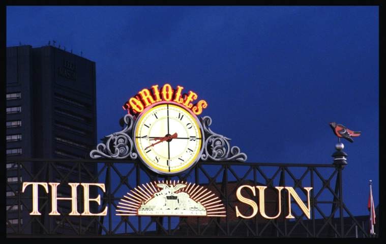 Orioles Clock