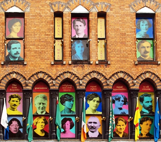 Faces in the windows
