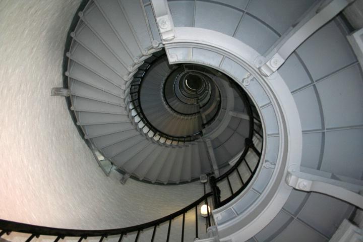 inside a lighthouse...