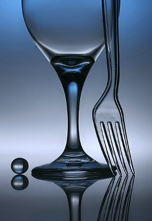 A still life with glass