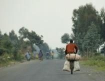 Rwandan biker