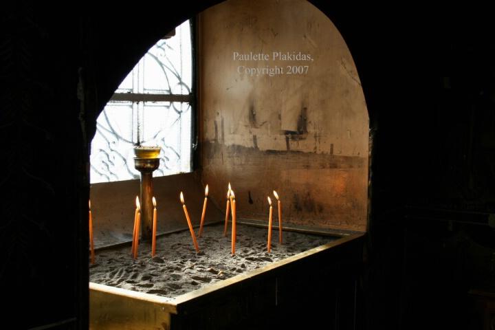 Candles in Agios Georgios