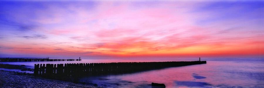 Glowing Sunset Panorama