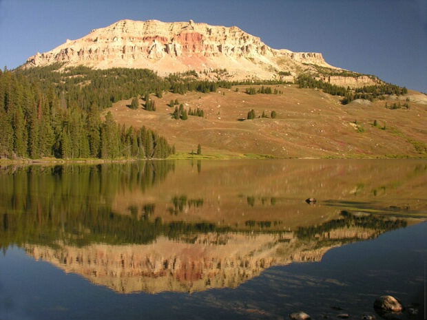 Soda Butte reflection, Beartooth Hwy - ID: 4641430 © Jannalee Muise