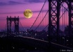 Moonrise over the...