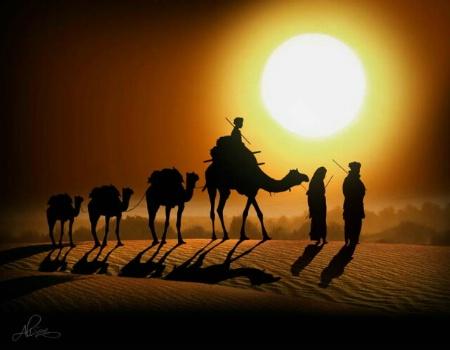 In the desert! still long way to go...